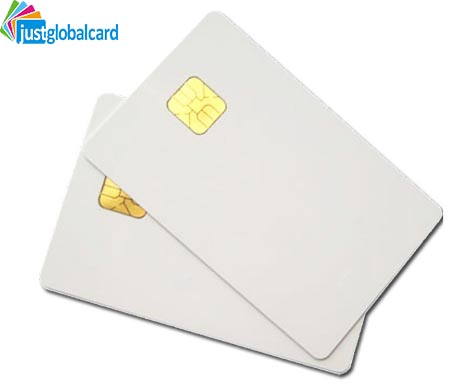 Printable Inkjet white PVC contact smart card FM4428 chip blank ic card