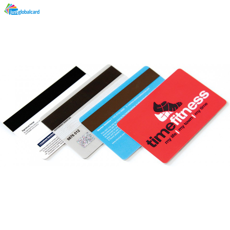 Customized Hico loco PVC CMYK Printing magnetic stripe card For Access Control