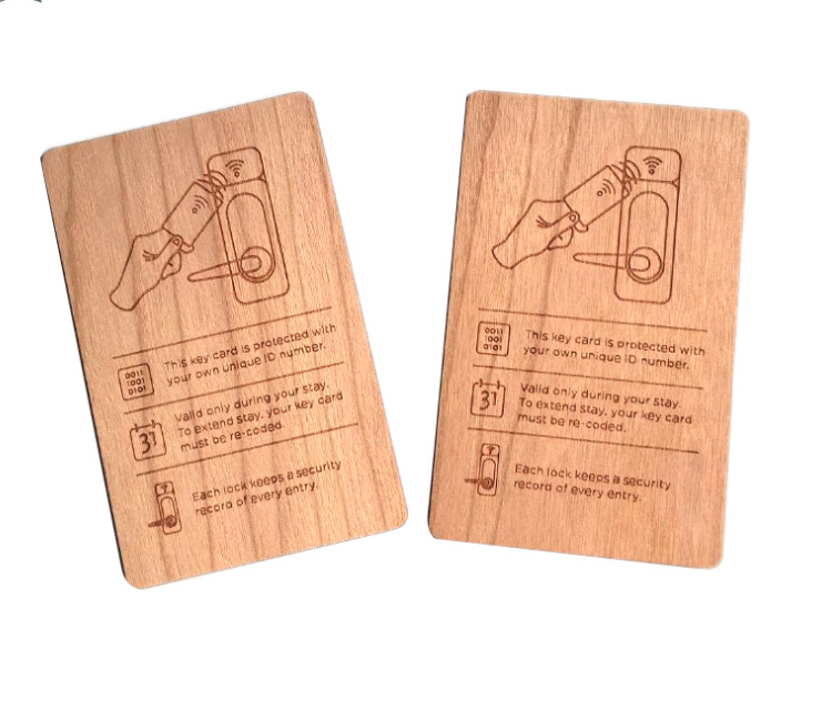 Wood chip card Wood chip card F08 S50 NFC wood IC card