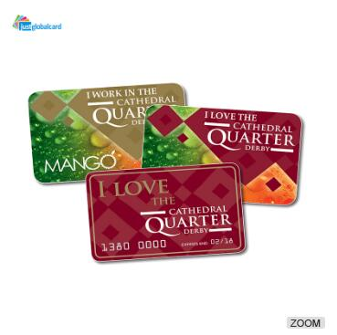 Free design Customer Reward Programs PVC Loyalty Cards