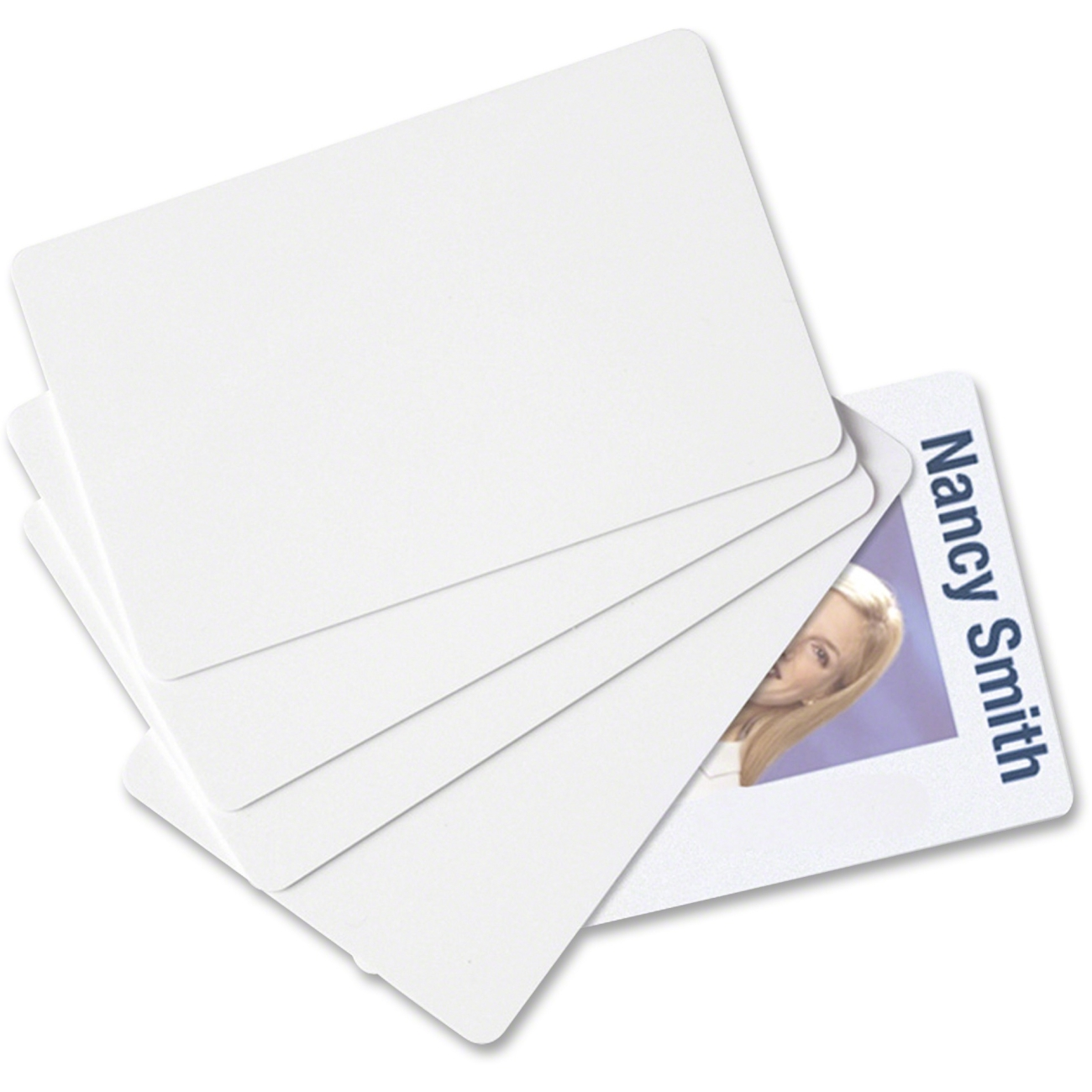 China Suppiler CR80 Standard Plastic PVC White Blank Card