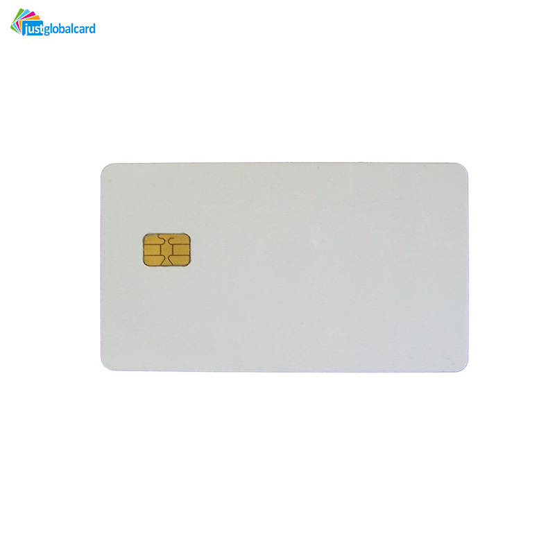 Printable Inkjet white PVC contact smart card SLE4442 chip blank ic card